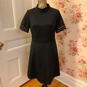Vintage Black High Neck Dress